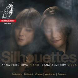 Silhouettes by Debussy ,   Milhaud ,   Clarke ,   Werkman ,   Enescu ;   Dana Zemtsov ,   Anna Fedorova