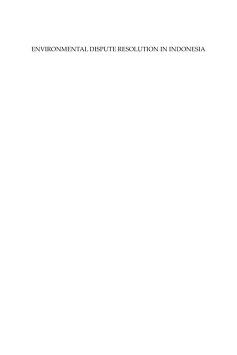 Environmental dispute resolution in Indonesia by David Fergus Nicholson