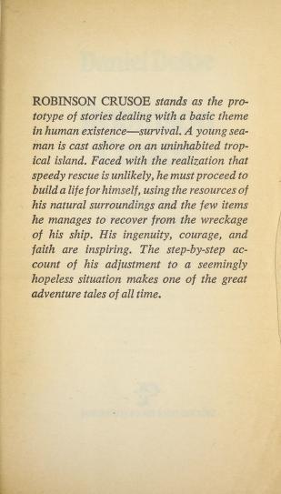 Robinson Crusoe E by Daniel Defoe